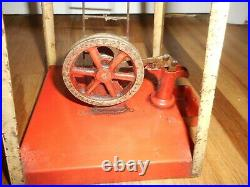 Vintage RARE EMPIRE Metal Ware WINDMILL & WATER PUMP Live Steam Engine Toy