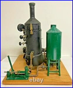 Vintage Stationary Steam Plant, Boiler, Horizontal Mill Steam Engine