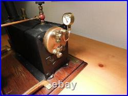 Vintage Stuart model S50 Steam Engine Babcock Wilcox Boiler setup