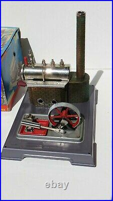 Vintage Wilesco D 8 Model Toy Steam Engine Dampfmaschine Made in West Germany