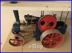 Vintage Wilesco D405 Metal Toy Steam Engine Tractor Traktor Made W. Germany