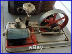 Vintage Wilesco Miniature Marine Steam Engine West Germany 10x8x5.5 Works