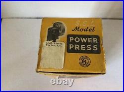 Vtg Sel Toy Model 3050 Power Press Steam Engine Hit Miss Electric Motor England