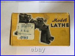 Vtg Sel Toy Model Lathe 3080 Steam Engine Hit Miss Electric Motor Box England