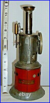 WEEDEN LIVE STEAM UPRIGHT STEAM ENGINE TOY 1930s