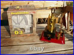 WILESCO D3 TOY STEAM ENGINE MADE IN GERMANY with BOX UNUSED STEAM ENGINE ONLY